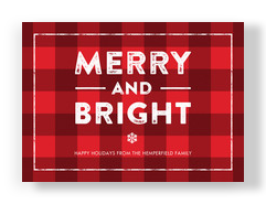 Merry and Bright - No Photo 7x5 Flat Card