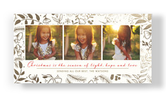 Light, Hope and Love 8x4 Flat Card