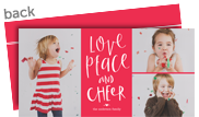Love, Peace and Cheer 8x4 Flat Card