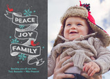 Peace Joy Family on Chalkboard 7x5 Postcard