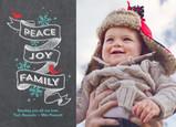 Peace Joy Family on Chalkboard 7x5 Postcard