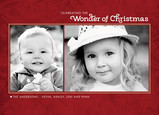 Red Christmas Wonder 7x5 Postcard