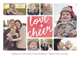 Love & Cheer Watercolor 7x5 Postcard