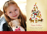 Dog Christmas Tree 7x5 Postcard
