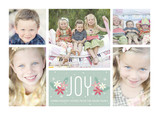 5 Photos - Joy with Poinsettias 7x5 Postcard