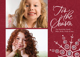 Two Photo Holiday Season 7x5 Postcard