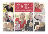 Be Merry with Red Stripes 7x5 Postcard
