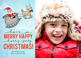Merry Happy Christmas 7x5 Postcard