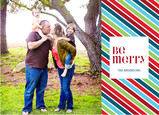 Bright Merry Stripe 7x5 Postcard