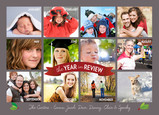 Gray Horizontal Year in Review 7x5 Postcard