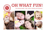 Monogram oh what fun 7x5 Postcard