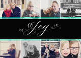 Joy - White Lettering on Black 7x5 Postcard