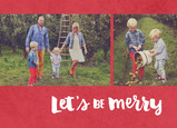 Let's Be Merry Hand Lettering 7x5 Flat Card