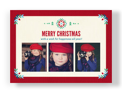 A Merry Christmas Wish 7x5 Flat Card