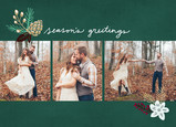 Season's Greetings with Pine Cone 7x5 Flat Card