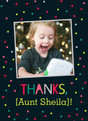 Thanks - Confetti 3.75x5.25 Folded Card
