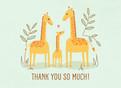 Baby Shower Thank You - Giraffes 5.25x3.75 Folded Card