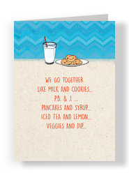 Milk & Cookies 5x7 Folded Card