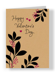 Valentine's Day on Kraft 5x7 Folded Card