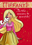 Barbie - Christmas Sparkle 5x7 Folded Card