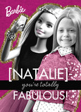 Barbie - Totally Fabulous, personalize with your own photo 5x7 Folded Card