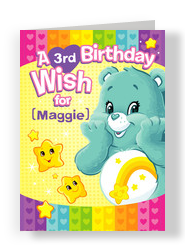 Make and send personalized birthday cards from cardstore care bears birthday wish 5x7 folded card bookmarktalkfo Image collections
