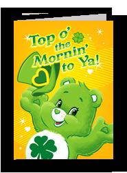 Care Bears - Top o' the Mornin' 5x7 Folded Card