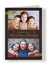 Merry Memories 5x7 Folded Card