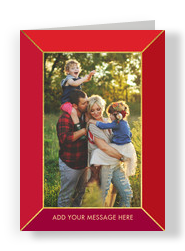 CYO - Red Frame Vertical 5x7 Folded Card