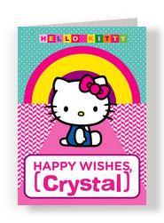 Hello Kitty - Happy Wishes 5x7 Folded Card