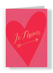 Je T'aime 5x7 Folded Card