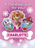 Paw Patrol - Christmas Wish 5x7 Folded Card