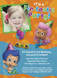 Bubble Guppies - Fin-tastic Party Invite 5x7 Flat Card