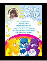 Care Bears - Invitation with Sunshine 5x7 Flat Card