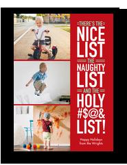 Christmas Lists 5x7 Flat Card