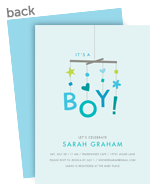 Baby Mobile - Boy 5x7 Flat Card