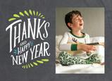 New Year Thanks on Chalkboard 7x5 Folded Card