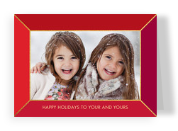 CYO - Red Frame Horizontal 7x5 Folded Card