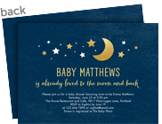 To the Moon and Back Invitation 7x5 Flat Card