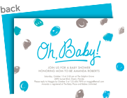 Oh, Baby! - Blue 7x5 Flat Card
