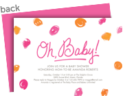 Oh, Baby! - Pink 7x5 Flat Card