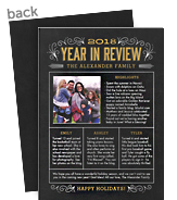 Year in Review on Chalkboard 5x7 Flat Card