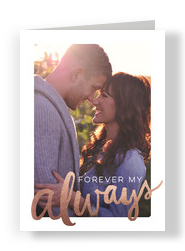 Forever My Always - Anniversary Photo Card 5x7 Folded Card