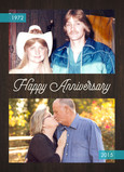 Then & Now - Anniversary Photo Card 5x7 Folded Card