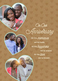 Anniversary Photo Hearts on Kraft 5x7 Folded Card