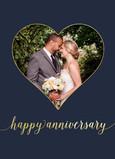 Happy Anniversary Photo Card - Heart 5x7 Folded Card