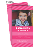 Custom Invitation - Pink 4x8 Flat Card