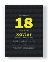 Custom Invitation - Bold on Black 5x7 Flat Card