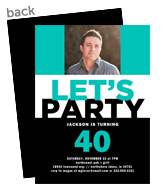 Custom Photo Invitation - Black & Teal 5x7 Flat Card