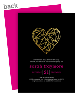 Custom Invitation - Geometric Heart 5x7 Flat Card